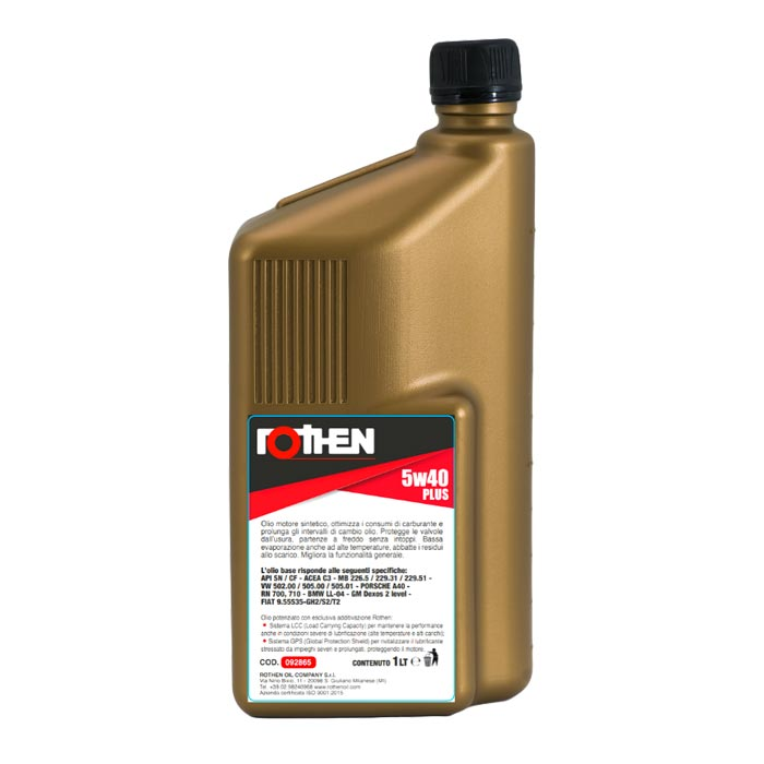 Rothen olio sintetico Ultrasynt 5w40 plus 1 litro